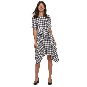 NWT -Elle Women's Plaid Dress